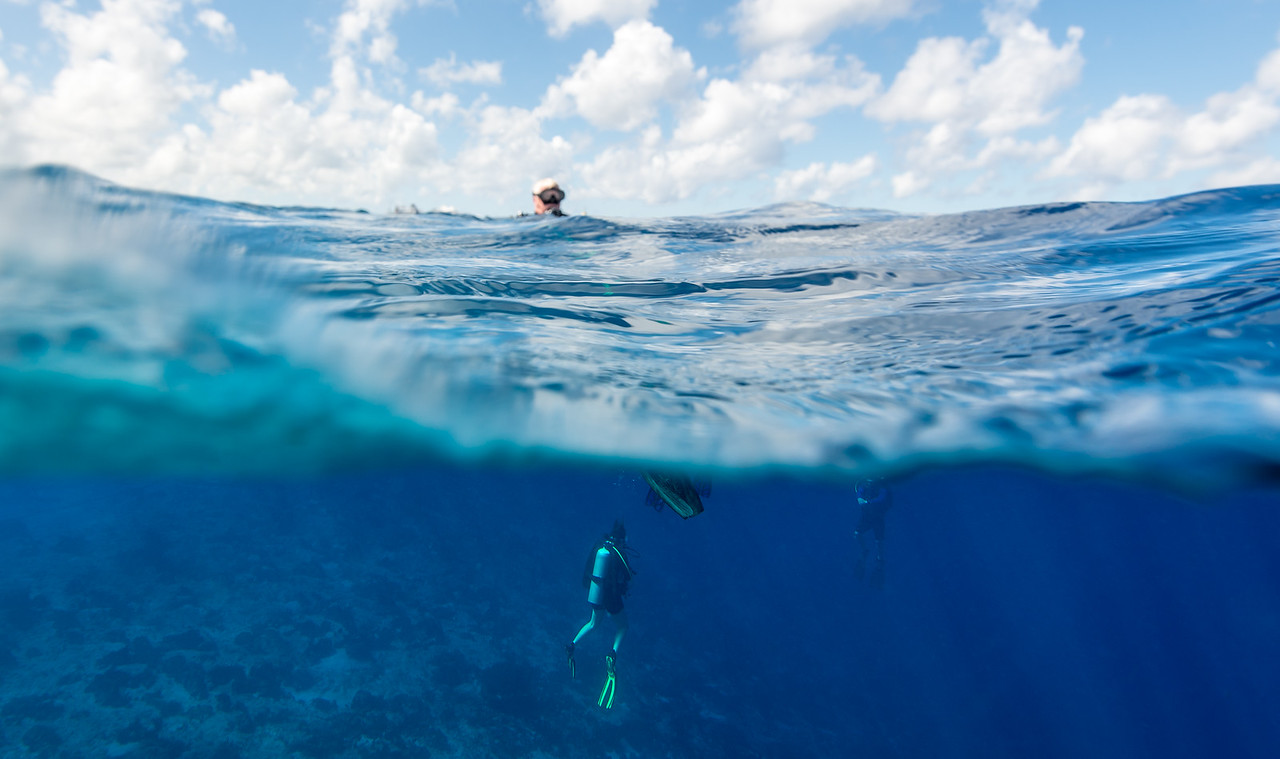 Over-Under shot - Cozumel, Mexico - March 2016