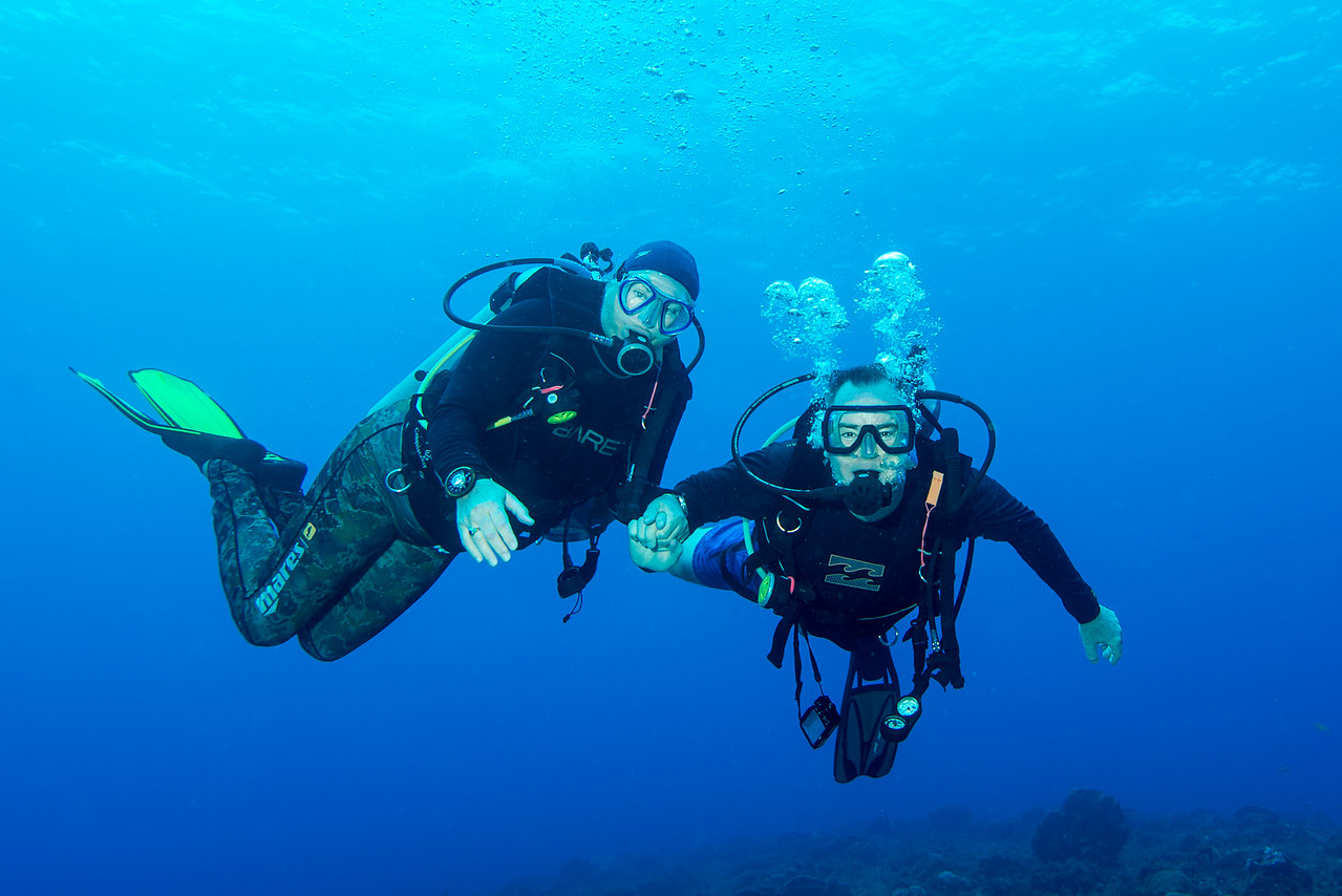 A couple of Canadians at Cedral Pass dive site - Cozumel, Mexico - March 2016