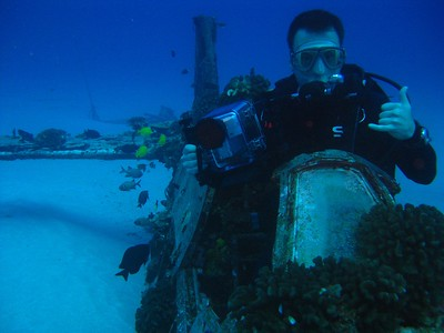 Dive on a WWII Airplane Wreck