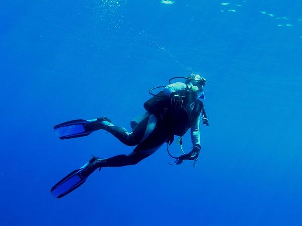 David Kearnes<br /> Coming up from visiting the Naked Lady in Kailua Bay<br /> Kona Coast of the Big Island
