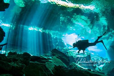 Cenote (underwater cave) near Tulum, Mexico