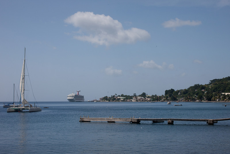 Dominica does attract the cruise ships.