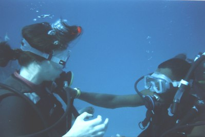 we had a novice diver who should not have been diving, kept running into trouble