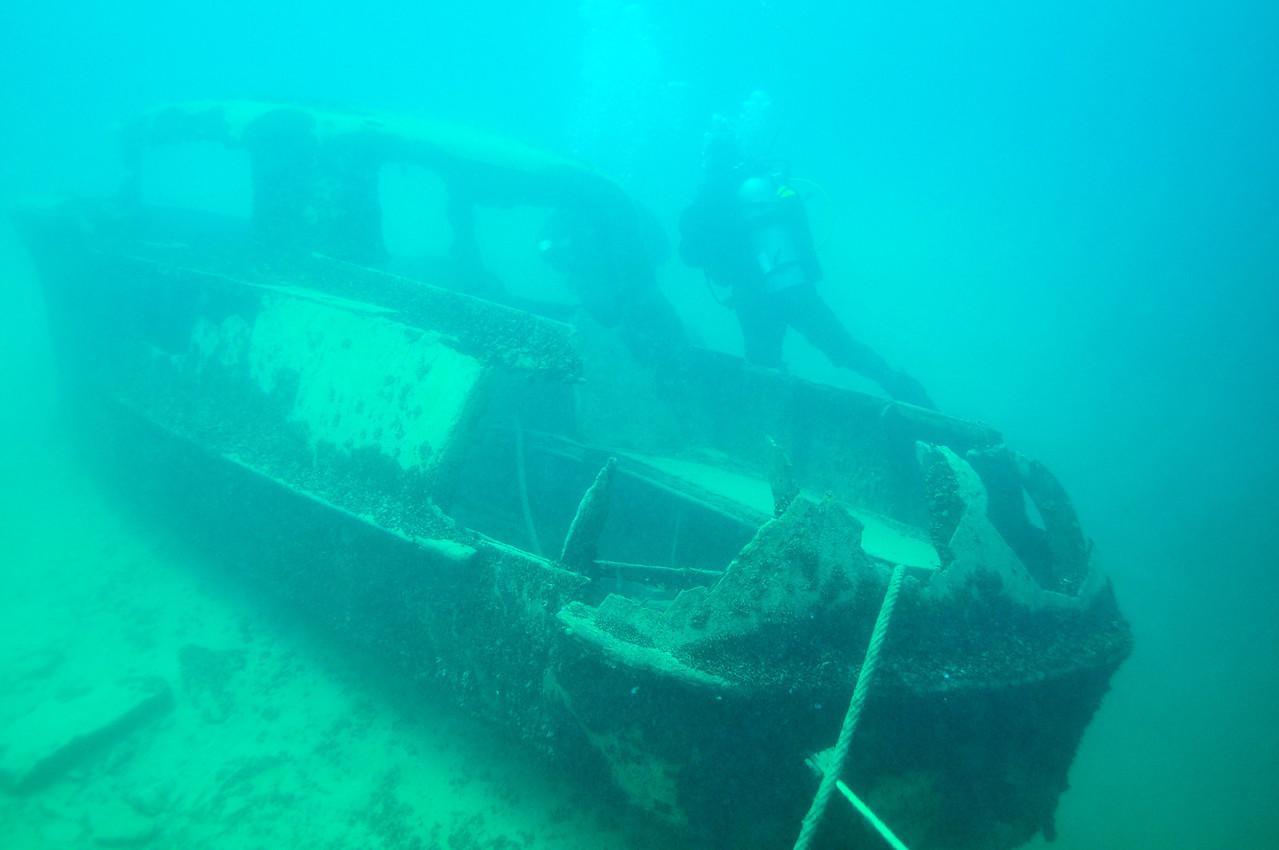 Sunken boat, Dutch Springs - August 2009