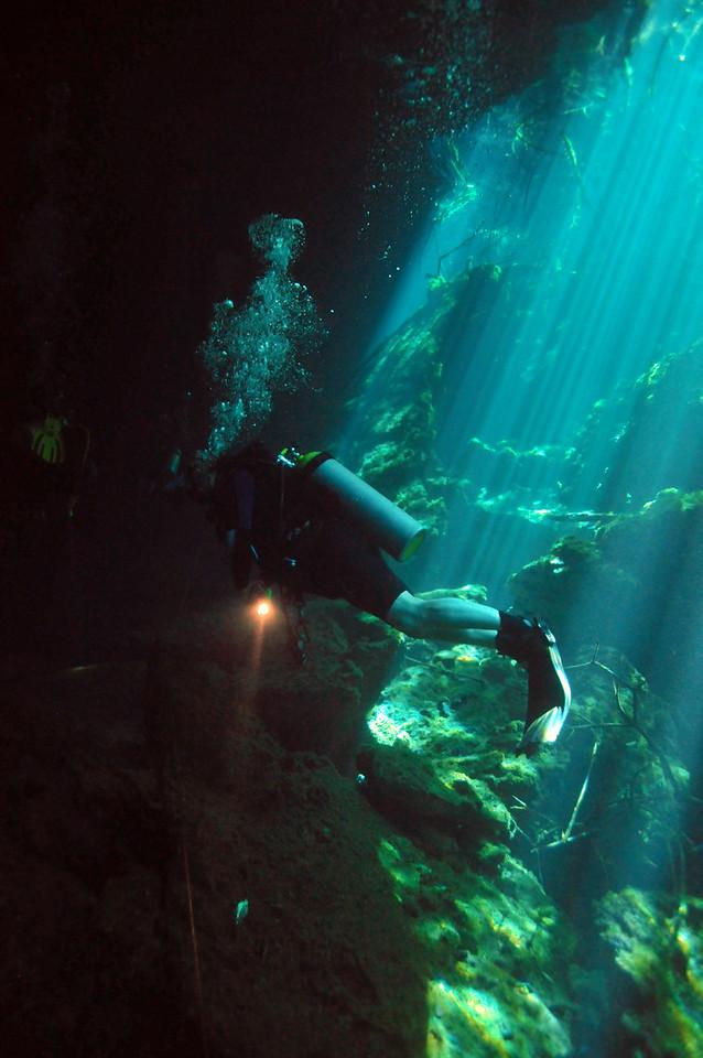 Exploring El Eden Cenote - November 2012