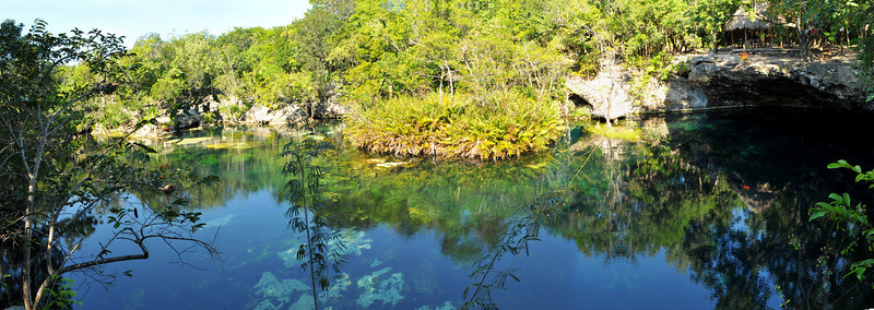 Panoramic of El Eden Cenote - November 2012