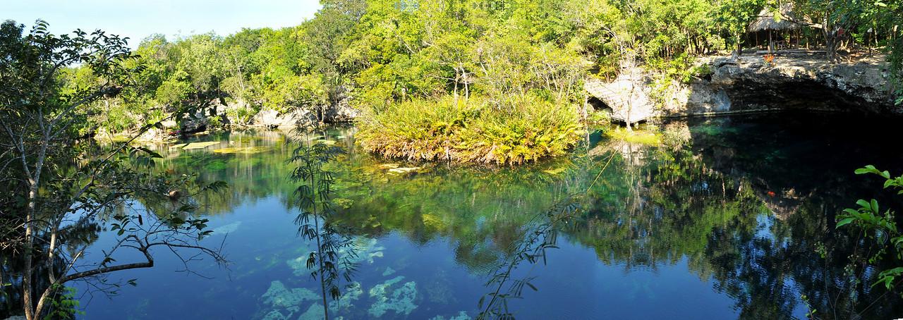 Panoramic of El Eden Cenote - November 2012