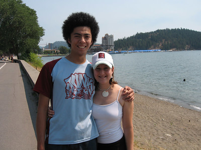coeur d'alene, id.  beach and such after the wedding (number three so far this summer.  goodness!).