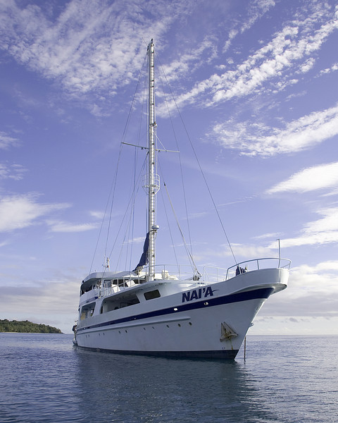 The Nai'a.  This is a Live aboard dive boat operating out of Nadi, Fiji.  It was home for a week.