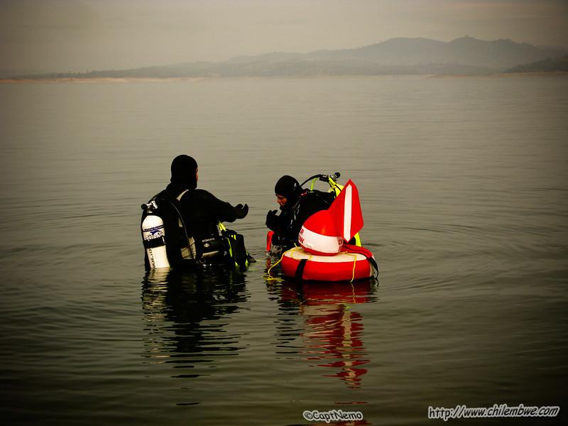 Scuba diving, Folsom Lake