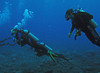 Divers descend on first dive