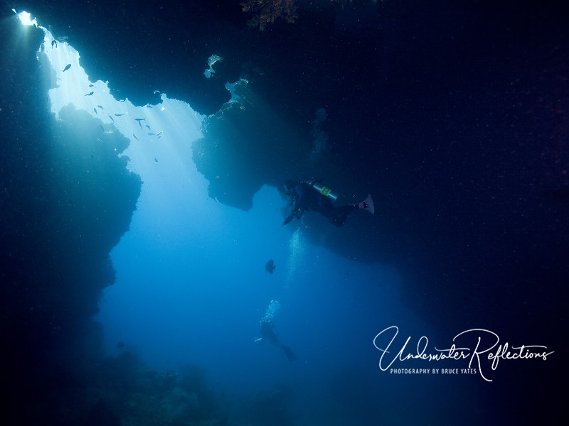 A cavern in the Misool area of Raja Ampat