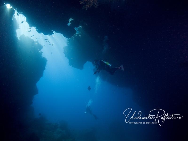 A cavern in the Misool area of Raja Ampat