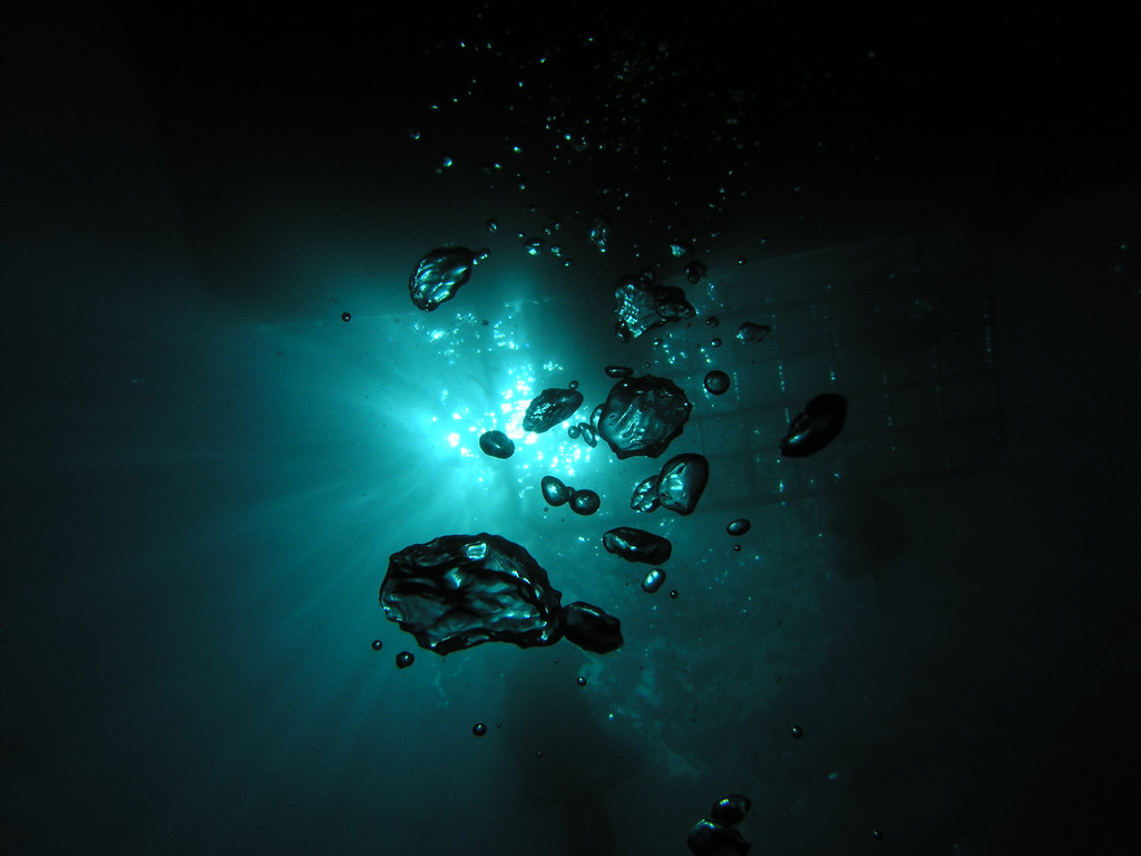 Larry Harris 3 Sept. 07 Little Gibraltar, Catalina bubbles and the swim step of The Great Escape Just goofing off -- Pic is pure natural no alterations Camera Olympus 5060 no external strobes