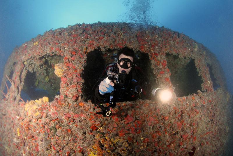 The Spiegel Grove shipwreck, Florida Keys