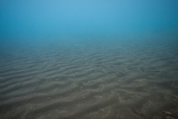 Sandy bottom at Kleifarvatn.