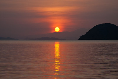 Sunrise at Horseshoe Bay, Rinca Island.  Komodo National Park, Indonesia.