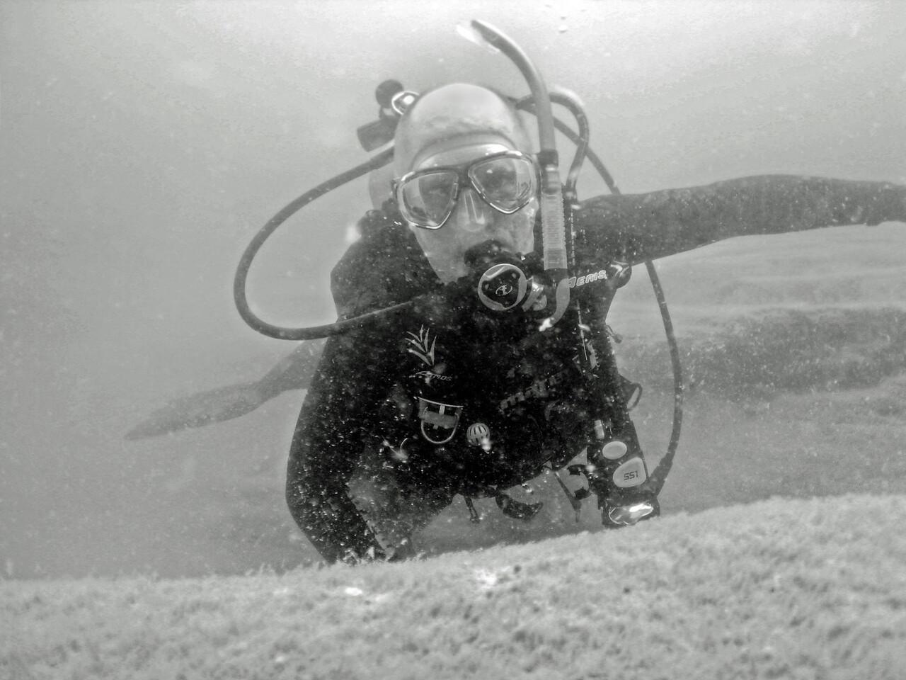 Self-timer shot near Port Austin Reef Lighthouse - August 2007