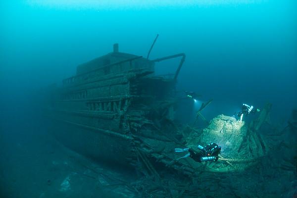 Shipwreck, Florida, Lake Huron MI, Thunderbay National Marine Sanctuary