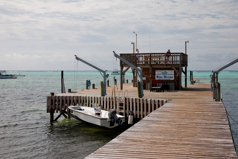 This the dock where we would load the dive boats each morning.