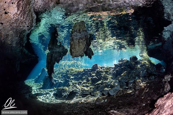 Sunny day at cenotes Nicte Ha