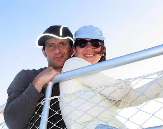 Meroujes celebrates his birthday on the boat with his wife, Julie, who gave him the trip as his present.  Nice gift!