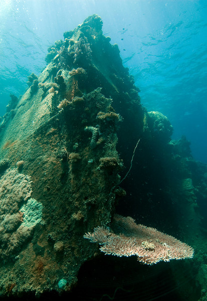 Damaged hull of the Hoyo Maru