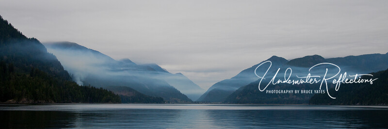 Parting shot: Nootka Sound with Tahsis in the distance.  It was a great trip to a beautiful part of British Columbia.