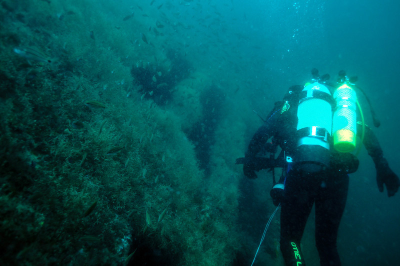 Exploring German U-Boat 352, August 2008