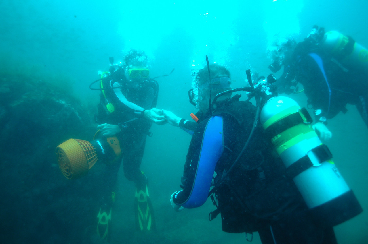 Divers off the coast of NC.  August 2008.