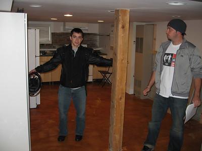the basement:  1.5 arlen's large.