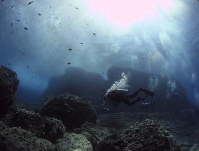 Spitting Caves, Portlock coast, Hawaii Kai, Oahu