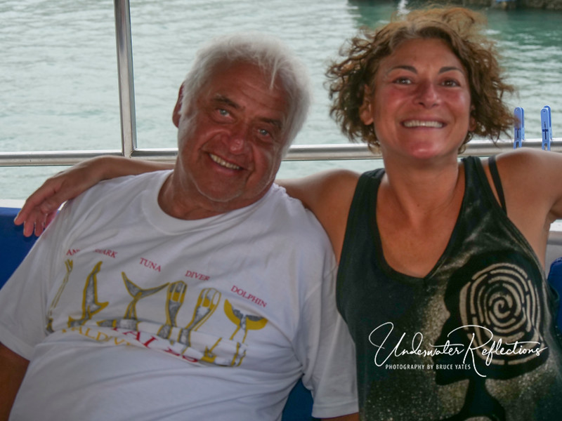Bob (NJ) and Erica (Boston), long-time dive friends who often travel together.