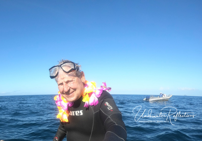 Luke even got an underwater lei on his birthday!