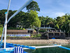 Aiyanar resort at Anilao.  This is a very modern, nice resort.  Rooms are on the hill up above the banner.