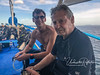 Luke (right) with son, Adrian, who was able to join us for diving one day!