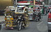 While Jeepneys provide rather secure travel, there are other ways to get around - Motorbikes with side-cars.