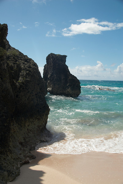 Lava rocks at Chaplin Bay Beach, Bermuda