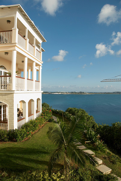 Overlooking Castle Harbor w/ St. George in the background, Tuckers Point, Bermuda