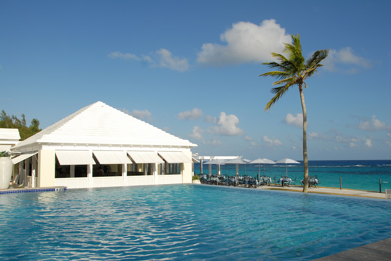 A view from pool side at the Tuckers Point Beach Club, Bermuda.
