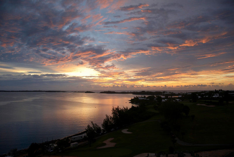 Morning Color - One of a series of sunrise photographs taken at Tuckers Point, Bermuda.