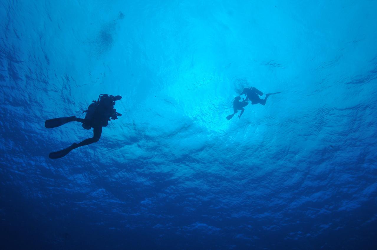 Preparing to descend, Tortuga Reef, Cancun - November 2012
