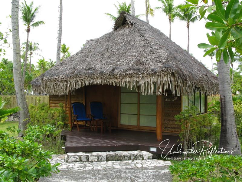 My bungalow at Hotel Kia Ora.