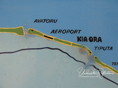 This is a close-up of the populated section of Rangiroa, which goes between the Avatoru and Tiputa passes.  Not only are the airport and Hotel Kia Ora on this stretch, but it is the only stretch with a road, which simply goes from one end to the other.