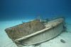 """The bow of """"Bahama Mamma"""" an old booze-cruiser sunk as a reef, and subsequently crushed by storms."""