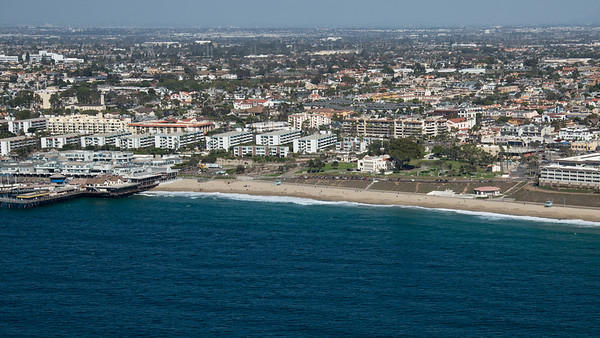 VETS PARK (R) AND REDONDO PIER (L) FROM 500 FEET IN THE AIR