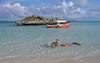 Angel snorkeling along Osprey Cay