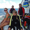 Dennie, Lori, Jennifer w/ crew member Kelly
