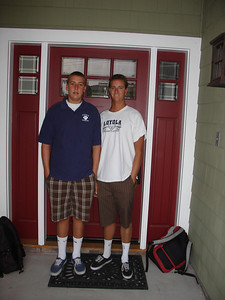 first day of school 08 Drew Soph Eric Senior