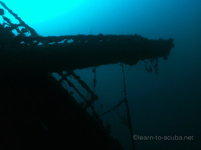 Crane arm / mast of the Ande wreck.  Jupiter, Florida.  Summer, 2012.